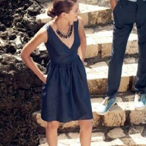 JCREW KAMI DRESS NAVY SIZE 6 CLASSIC BLUE
